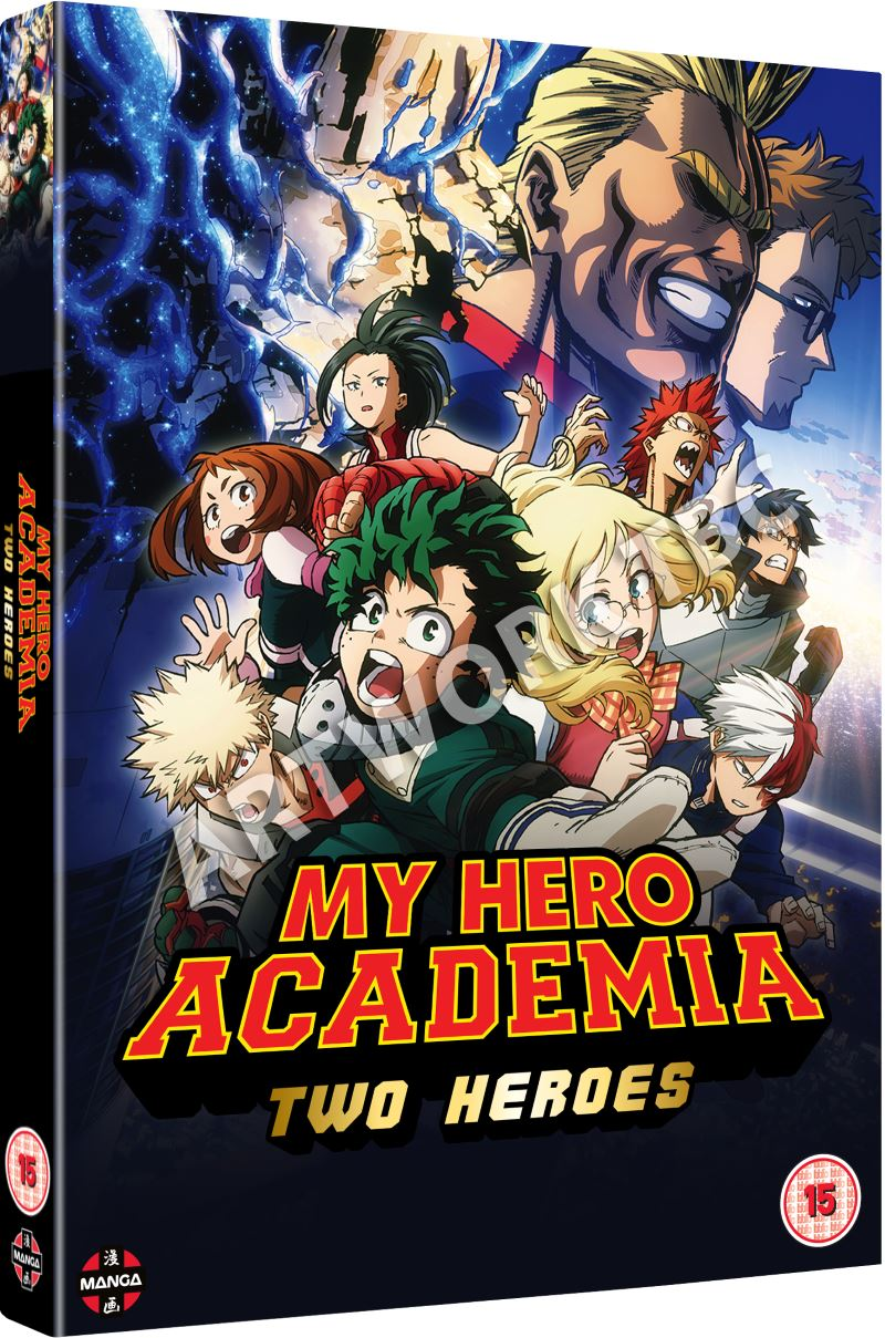 My Hero Academia: Two Heroes UK Cover