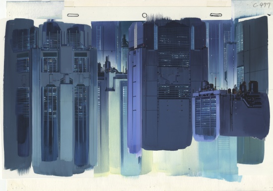 Ghost in the Shell background illustration cut 477