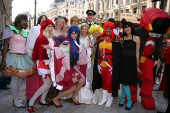 London Cosplayers at the new Oxford Street Crossing