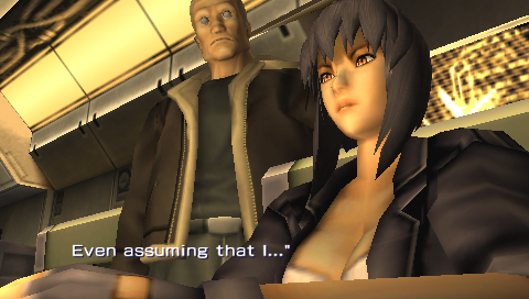 PSP Game - Ghost In The Shell: Stand Alone Complex Screen Shot Batou and Makoto