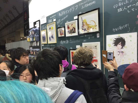 Anime Japan 2016 - A selection of artwork from the Kizumonogatari movies.